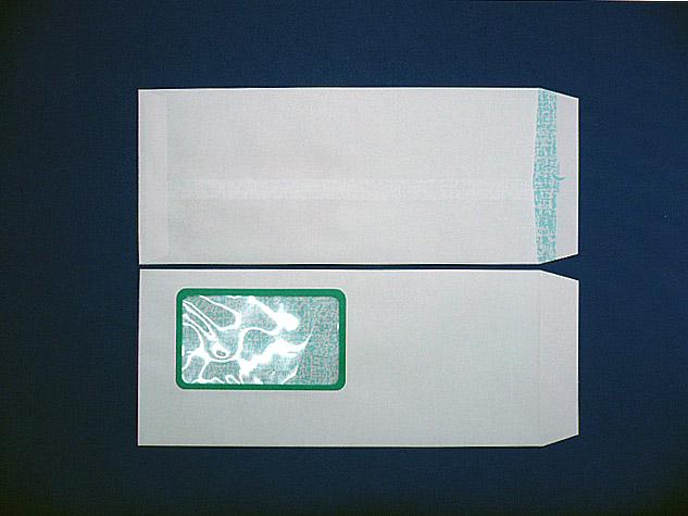長4封筒 ホワイト 80g K窓付/枠なし 地紋入り 1,000枚(4K0010)