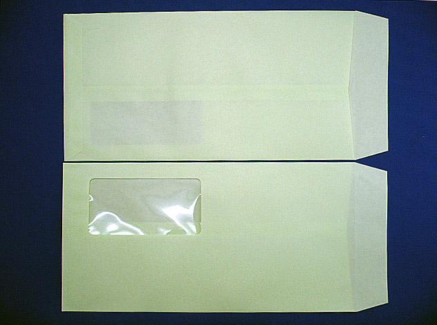長3封筒 ウグイス 85g A窓付枠なし 1,000枚(3A8060)