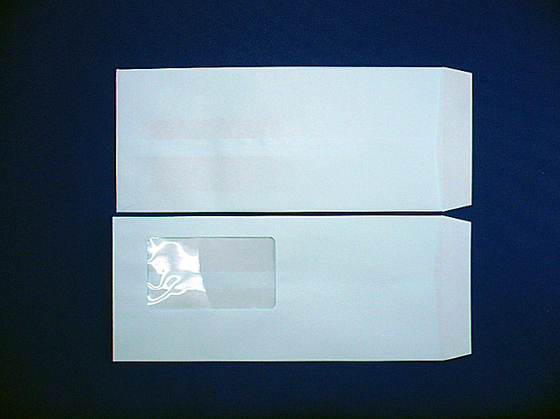長4封筒 ソフトブルー 80g C窓付/枠なし 1,000枚(4C8300)