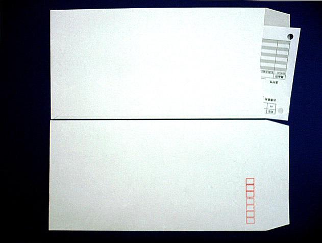 長3封筒 (中身が見えない)プラテクト白菊80g L貼 100枚(309831)