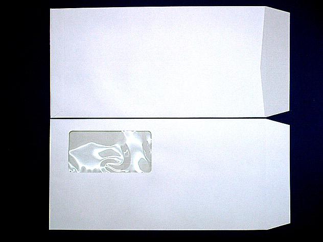 長3封筒 セロ窓付 (中身が見えない)プラテクトホワイト 80g 1,000枚(3A0990)
