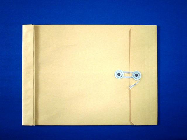 角3保存袋 マチ付 クラフト 120g 玉付 100枚 (h31120)