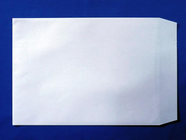 角2封筒 スカイ 85g L貼 /500枚 (K28041)