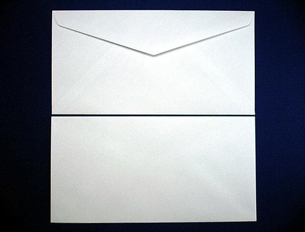 洋0封筒 洋長3 白菊(枠なし)/500枚(Y00460)