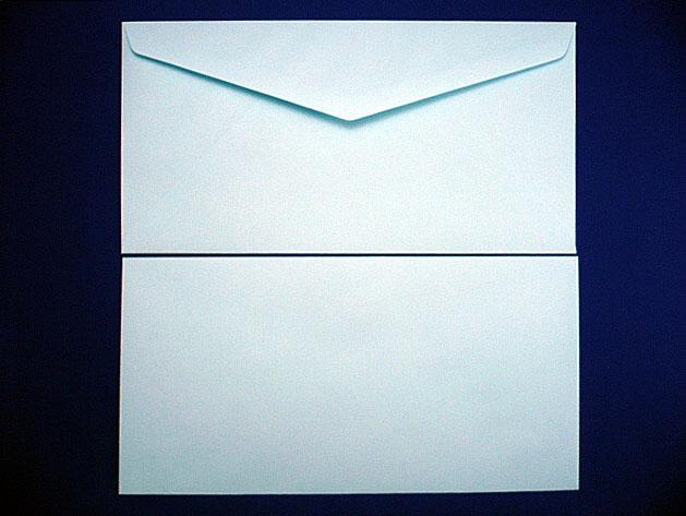 洋0封筒 洋長3 ソフトブルー(枠なし)/500枚(Y03000)