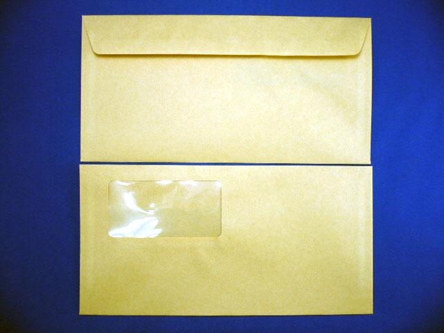 洋長3封筒 洋0カマス貼 クラフト70g 窓付/1,000枚(YS0702) 送料無料