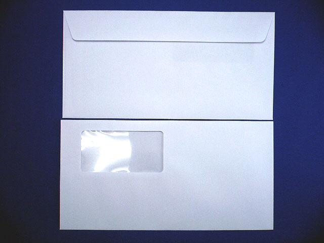 洋長3封筒 洋0カマス貼 スカイ85g 窓付/1,000枚(YS0042) 送料無料