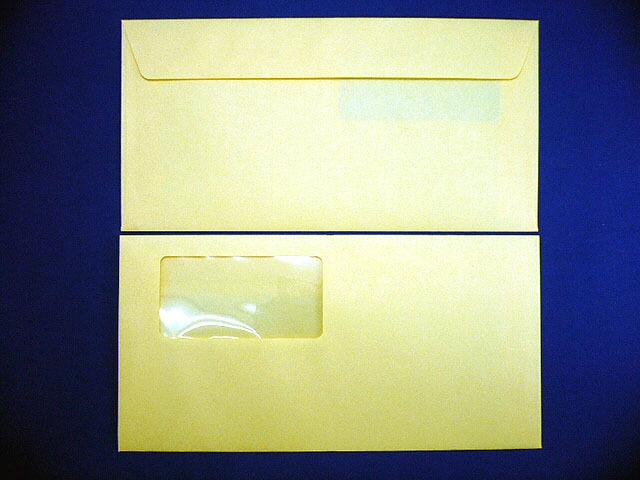 洋長3封筒 洋0カマス貼 クリーム85g 窓付/1,000枚(YS0052)