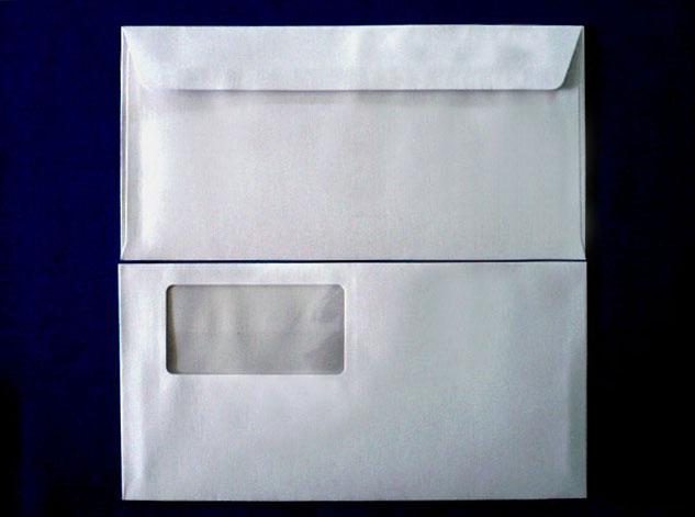 洋長3封筒 洋0カマス貼 グレー85g 窓付/1,000枚(YS0122) 送料無料