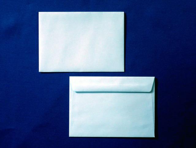 洋2封筒 カマス貼 ソフトブルー(枠なし)/500枚(YS2300)