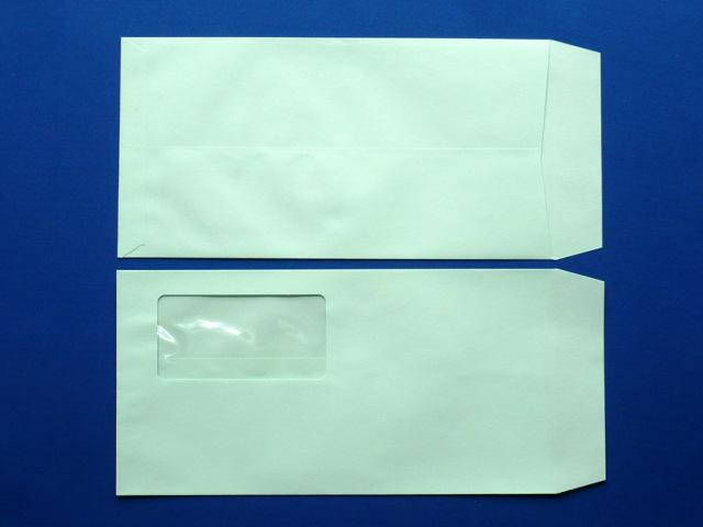 長3封筒 ソフトグリーン 80g  A窓付/枠なし 1,000枚(3A8310)