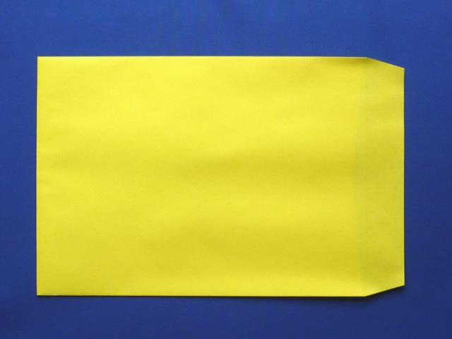 角2封筒 イエロー 85g L貼 /500枚 (K28081)
