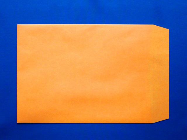 角2封筒 オレンジ 85g L貼 /500枚 (K28091)