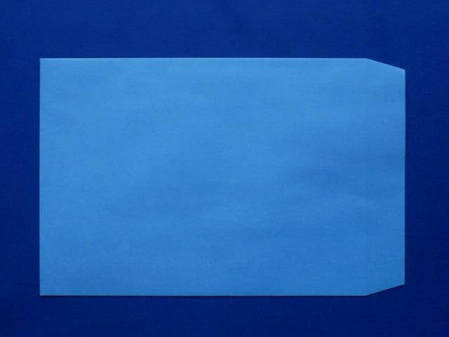 角2封筒 ブルー 85g L貼 /500枚(K28101)