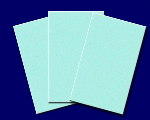 名刺(1丁判)ブルー 4号 /500枚厚口(メ45100)