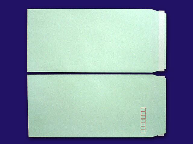 長3封筒 ソフトグリーン 80g L貼 テープ付 500枚(30931B)