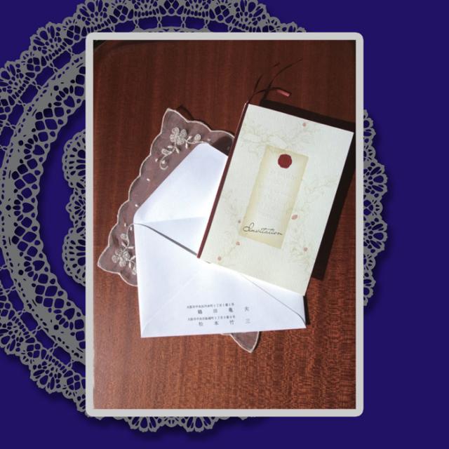 結婚式招待状 挙式 婚礼 案内状 「レジェンド」5点セット (各10組)