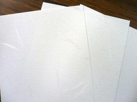 名刺(1丁判)白大礼(片面大礼紙) 4号/500枚 (メ44477)