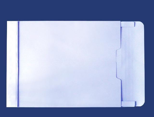 角2封筒 マチ付 保存袋 ソフトブルー 120g 玉なし/100枚(H20B30)