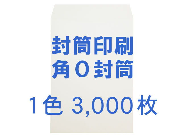 角0封筒 白菊(ホワイト) 100g ◎印刷3,000枚 【 印刷1色】 送料無料 /フォーマット注文