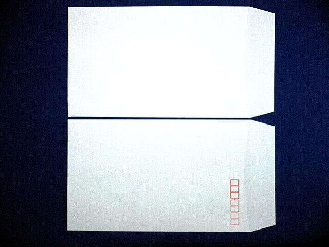 角8封筒(枠入) 白菊 80g L貼 100枚 (K89011) ☆小ロット