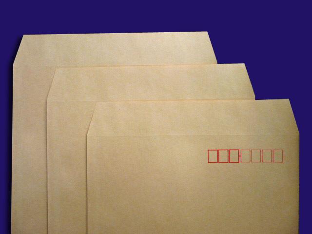 角形封筒 郵便枠付き