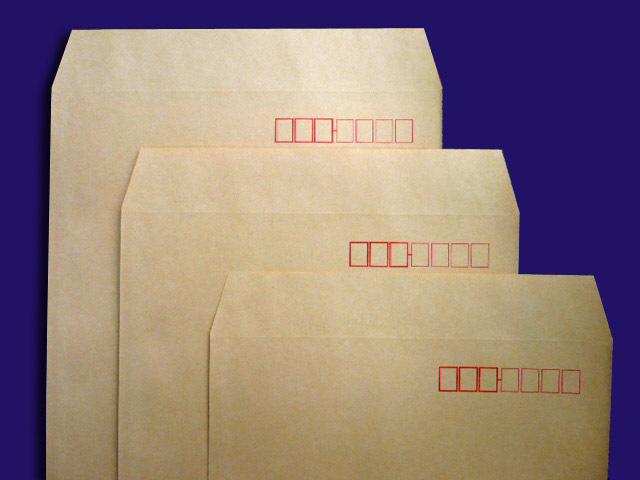 長形封筒 郵便枠付き