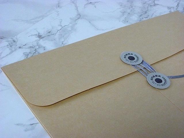 角3封筒 マチ付 保存袋 クラフト 120g 玉付(マルタック)/100枚(H31120)