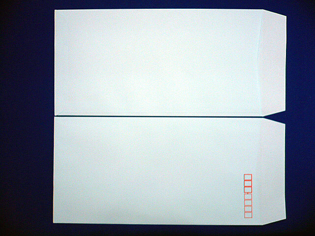 長3封筒 ソフトブルー 80g L貼 100枚(309301)☆小ロット