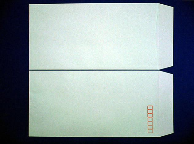 長3封筒 ソフトグリーン 80g L貼 100枚(309311)☆小ロット