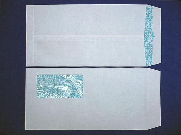 長3封筒 ニューケント 80g G窓付 枠なし地紋入り 1,000枚(3K801G)