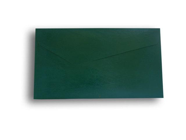 【ZAN月】 レギュラー封筒 エナメルレザー ビリジアン