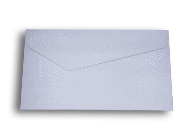 【ZAN月】 レギュラー封筒 パイソンレザー ホワイト