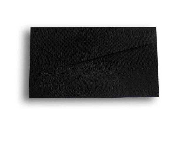 【ZAN月】 プチ封筒 パイソンレザー ブラック