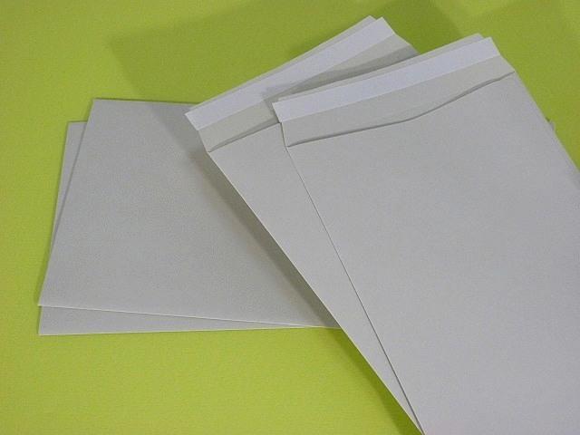 長3封筒 ソフトグレー 80g テープ付 A窓付/枠なし 1,000枚(3A832T)