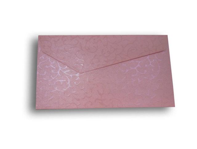 【ZAN月】 レギュラー封筒 パールリーフ ピンク