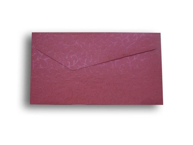 【ZAN月】 プチ封筒 パールリーフ レッド