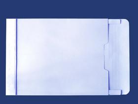 角2封筒 マチ付 保存袋 スカイ 120g 玉(マルタック)なし/100枚(H20B04)