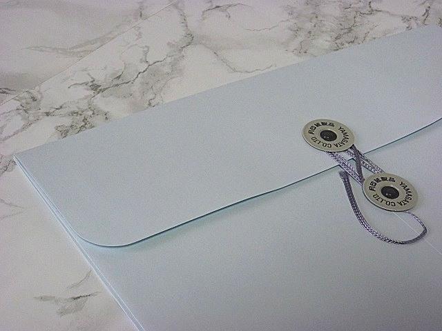 角2封筒 マチ付 保存袋 スカイ 120g 玉付(マルタック)/100枚(H21B04)