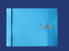 角2封筒 マチ付 保存袋 ブルー 120g 玉(マルタック)付/100枚(H21B10)