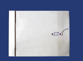 角2封筒 マチ付 保存袋 グレー 120g 玉(マルタック)付/100枚(H21B12)