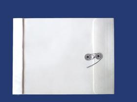 角2封筒 マチ付 保存袋 ホワイト 120g 玉(マルタック)付/100枚(H21B01)