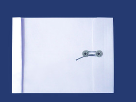 角2封筒 マチ付 保存袋 スカイ 120g 玉(マルタック)付/100枚(H21B04)