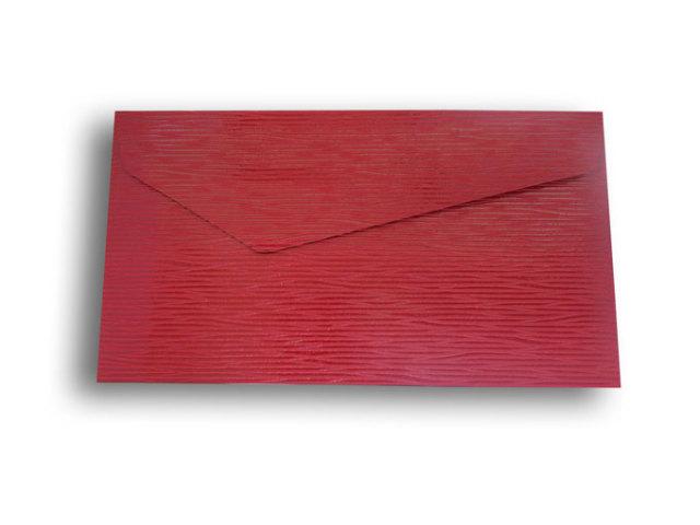 【ZAN月】 レギュラー封筒 ウェイブレザー レッド