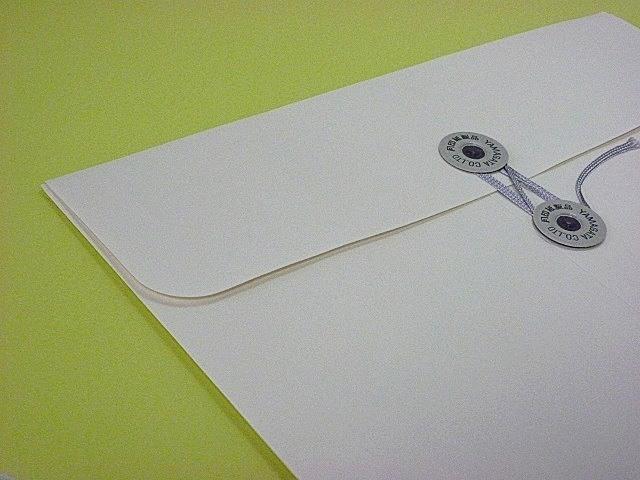 角2封筒 マチ付 保存袋 ホワイト 120g 玉付(マルタック)/100枚(H21B01)