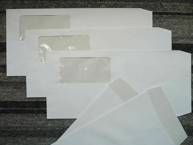 長3ホワイト撥水/セロ窓封筒80g L貼 1,000枚(3AH900)