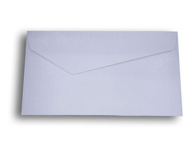 【ZAN月】 プチ封筒 パイソンレザー ホワイト