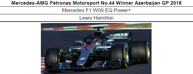 ◎予約品1/18 Mercedes-AMG Petronas Motorsport No.44 Winner Azerbaijan GP 2018 Mercedes F1 W09 EQ Power+  ルイス・ハミルトン