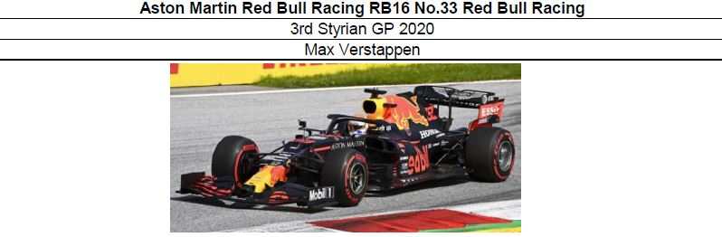 ◎予約品◎1/18 Aston Martin Red Bull Racing RB16 No.33 Red Bull Racing 3rd Styrian GP 2020  M.フェルスタッペン