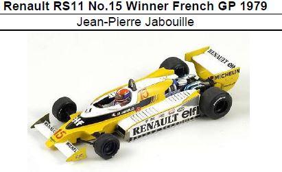 ◎予約品◎ 1/18Renault RS11 No.15 Winner French GP 1979 Jean-Pierre Jabouille